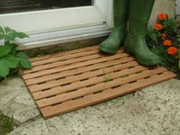 Cedar strip door mat plans