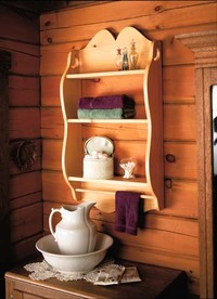wooden bathroom shelf plans